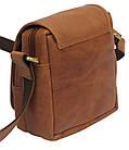 Мужская кожаная сумка Always Wild 5047-1-CBH COGNAC, коричневый 16х15х8 см., фото 5