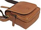 Мужская кожаная сумка Always Wild 5047-1-CBH COGNAC, коричневый 16х15х8 см., фото 6