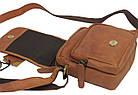 Мужская кожаная сумка Always Wild 5047-1-CBH COGNAC, коричневый 16х15х8 см., фото 7