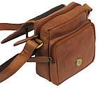 Мужская кожаная сумка Always Wild 5047-1-CBH COGNAC, коричневый 16х15х8 см., фото 8