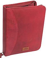 Яркая деловая кожаная папка для документов Always Wild NZ-722 red