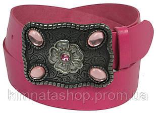 Женский кожаный ремень с закрытой пряжкой, Vanzetti, Германия, 100048 розовый, 4х102 см