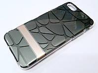 Чохол iPhone 7 силіконова 3D накладка з пластиковою основою Goospery графіт