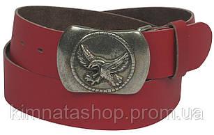 Женский кожаный ремень с пряжкой Орел, Vanzetti, Германия, 100021 красный, 4х108 см