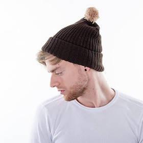 вязаная шапка с помпоном Mb7540 Fruit Of The Loom продажа в