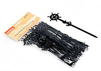 Палочка пластиковая для смешивания с морскими узлами черного цвета L 160 mm (уп 25 шт)