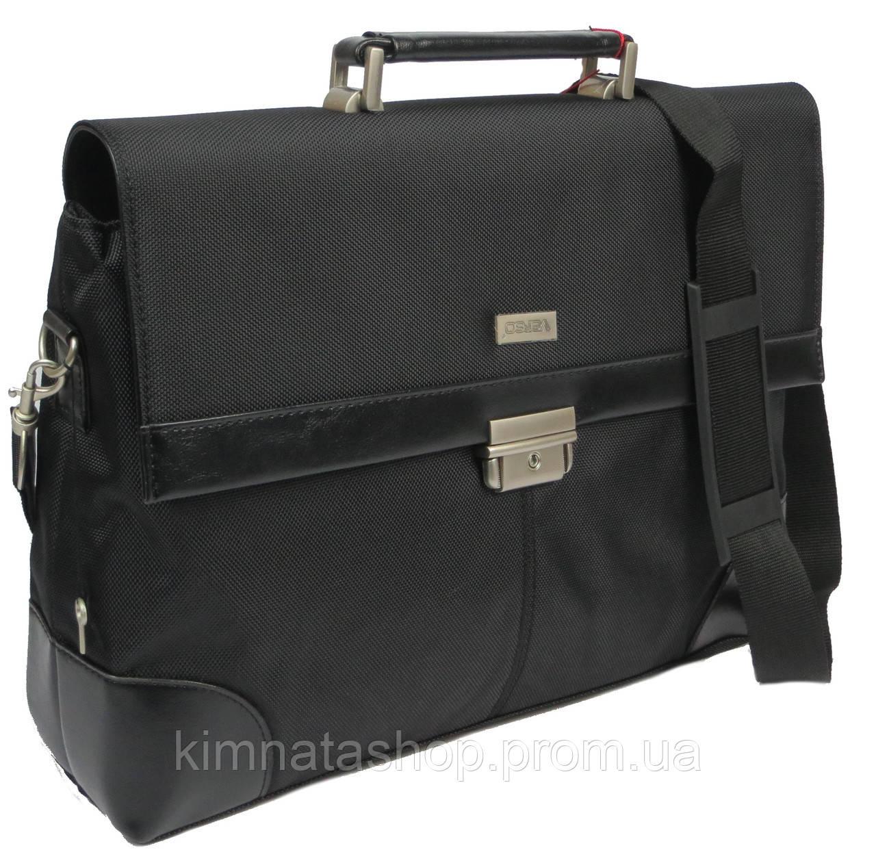 Мужской деловой портфель из нейлона VERSO B056 черный