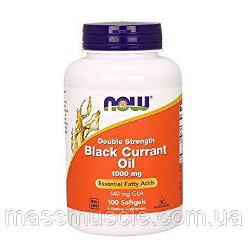 Рослинні жирні кислоти NOW Foods Black Currant Oil 500mg 100 softgels