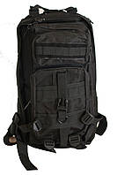 Рюкзак тактический армейский черный с мягкой спинкой (13026)