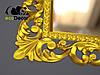 Зеркало настенное Ababa в золотой раме, фото 5