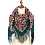 Рождественский пряник 1805-12, павлопосадский платок шерстяной (двуниточная шерсть) с шелковой бахромой, фото 2