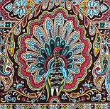 Рождественский пряник 1805-12, павлопосадский платок шерстяной (двуниточная шерсть) с шелковой бахромой, фото 4