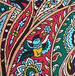 Рождественский пряник 1805-12, павлопосадский платок шерстяной (двуниточная шерсть) с шелковой бахромой, фото 5
