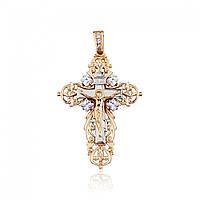 Золотой крест массивный, КР0133 Eurogold