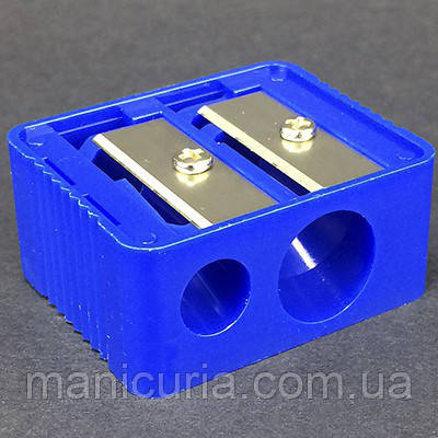 Подвійна Точилка без контейнера синя
