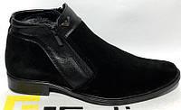 Мужские ботинки классика зима замшевые, мужская обувь зимняя от производителя ОЛК-1замш