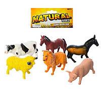 Животные 8503 (96шт) домашние, 6шт, от 7,5см, в кульке,18-23-3см