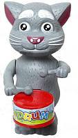 Кот Том заводной с барабаном - ОПТ