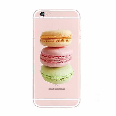 Чехол накладка xCase на iPhone 5/5s/SE прозрачный с макаронс
