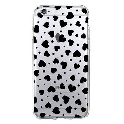 Чехол накладка xCase на iPhone 5/5s/SE прозрачный с сердечками №3