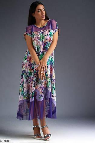 Нарядное женское платье цветное длинное размеры:50-52,54,56, фото 2