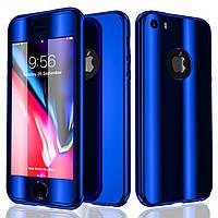 Чехол накладка xCase на iPhone 6/6s 360° Mirror Case синий