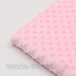 Отрез плюш minky М-6 размером 40*40 см, цвет розовый