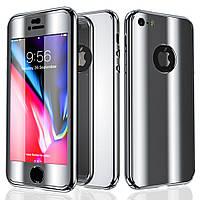 Чехол накладка xCase на iPhone 6/6s 360° Mirror Case серебро