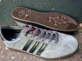 Кроссовки мужские Adidas London Серый 3 черных., фото 2