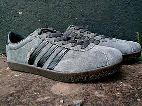 Кроссовки мужские Adidas London Серый 3 черных., фото 3