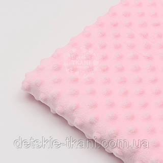 Отрез плюш minky М-6 размером 80*80 см, цвет розовый