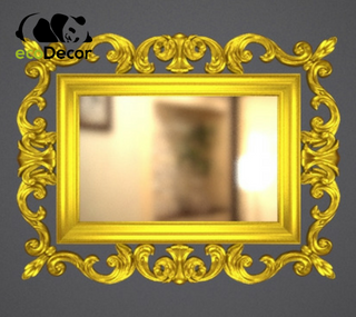 Зеркало настенное Dalian в золотой раме R3