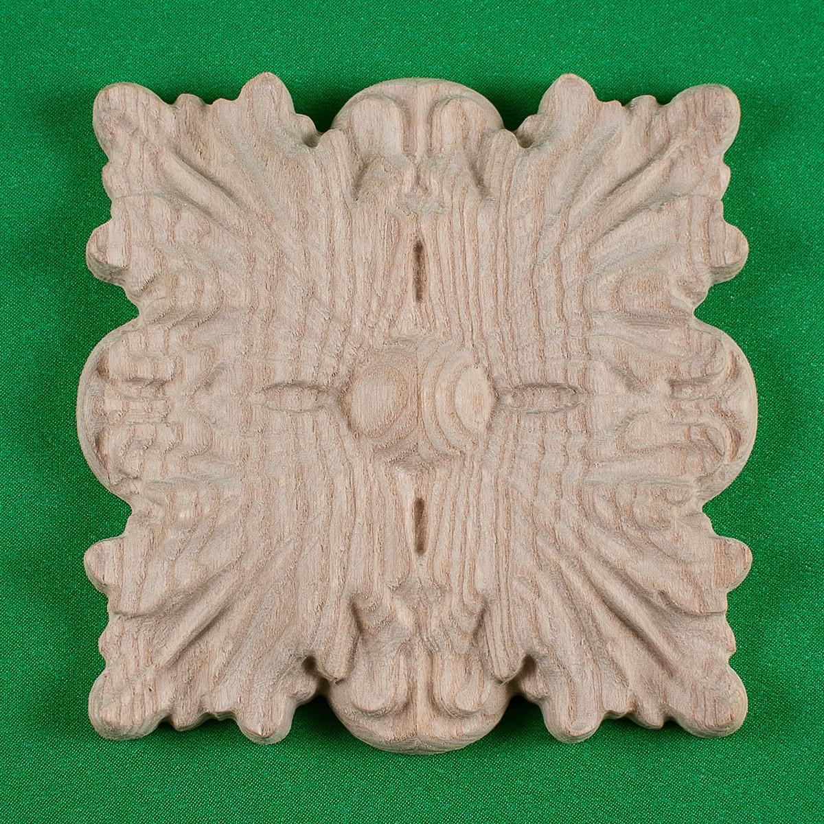Деревянная накладная розетка. Мебельный декор.Код Р10