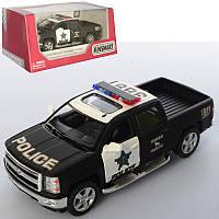 Машинка KT 5381 WP (24шт) металл, инер-я, полиция12см,открыв. двери,резин.колеса,в кор-ке,16-7,5-8см