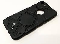 Чехол для iPhone 7 оригинальная резиновая противоударная накладка iFace (рисунок протектор) черный