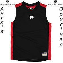 Майка Everlast из Англии для мальчиков 2-14 лет - чёрно-красная баскетбольная