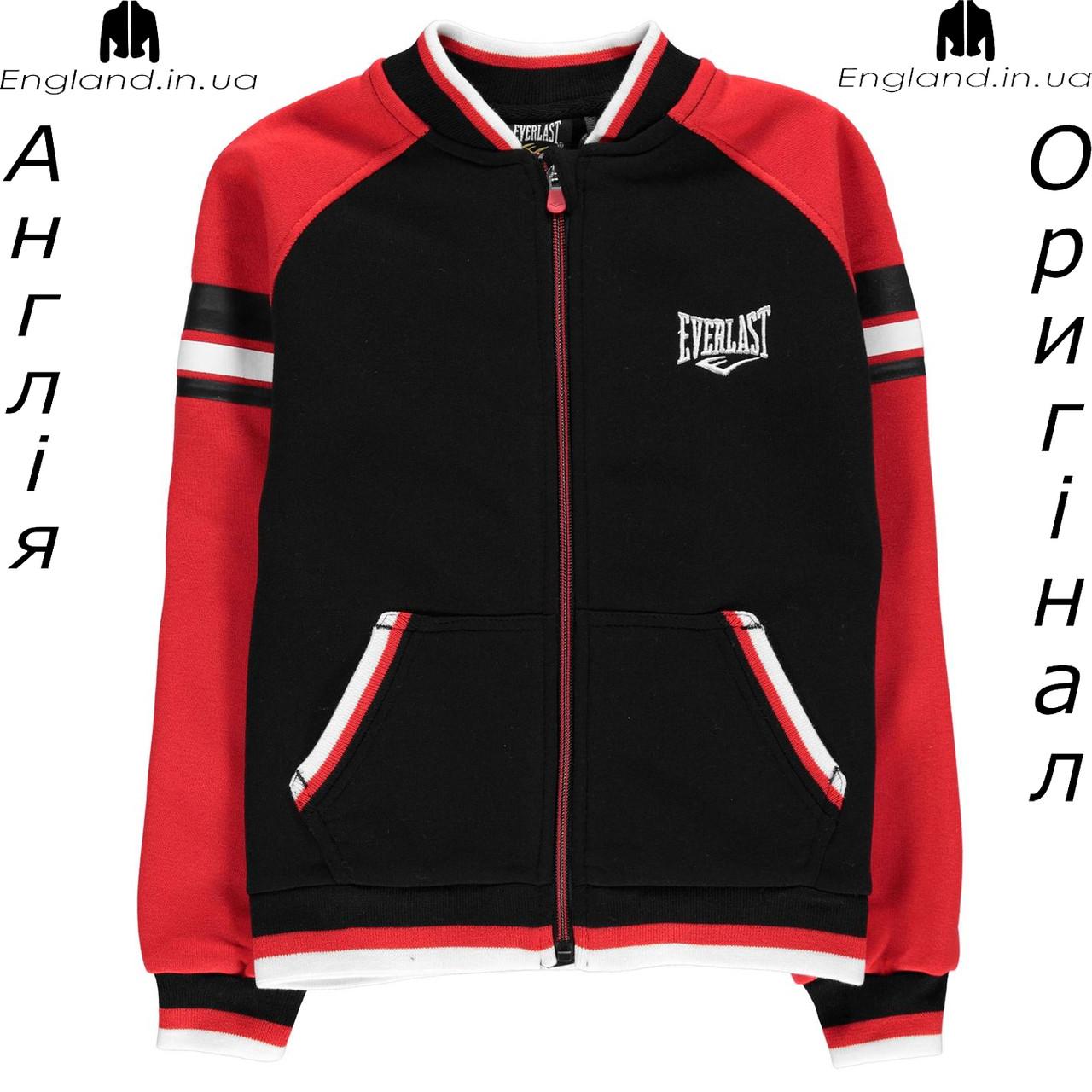 Куртка Everlast из Англии для мальчиков 2-14 лет - красно-чёрная