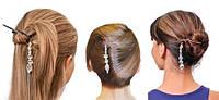 Набор заколок для волос с украшением Twist N Clip - ОПТ