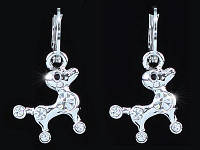 Серьги Puppy Dog Earrings use Swarovski Crystal SE372 - ОПТ