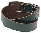 Мужской кожаный ремень под джинсы Skipper 1190-45 зеленый ДхШ: 132х4,5 см., фото 2
