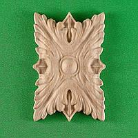 Код Р12. Деревянный резной декор для мебели. Розетка, фото 1