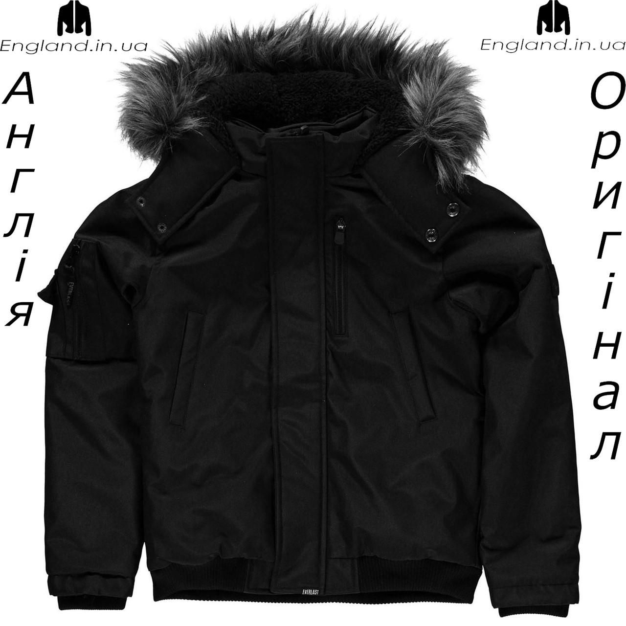Куртка Everlast из Англии для мальчиков 2-14 лет - черная