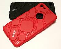 Чехол для iPhone 7 оригинальная резиновая противоударная накладка iFace (рисунок протектор) красный