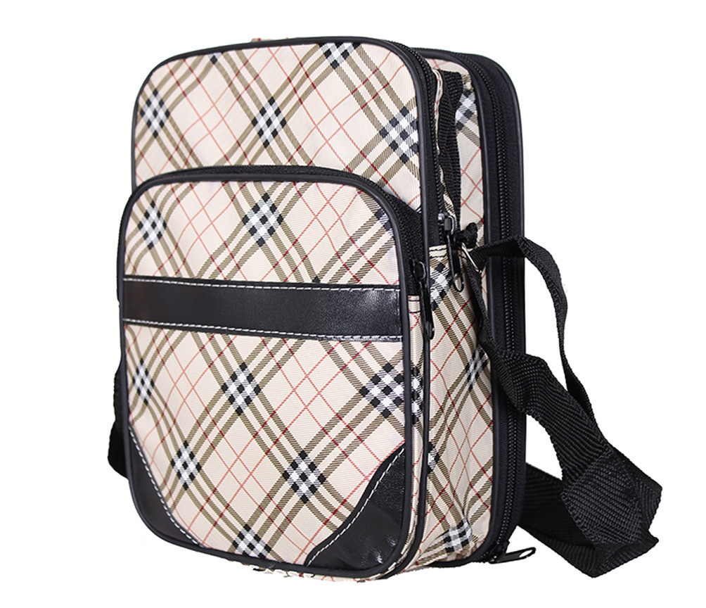Мужская сумка из кожзаменителя 301574 бежевый