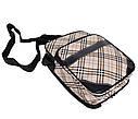Мужская сумка из кожзаменителя 301574 бежевый, фото 5