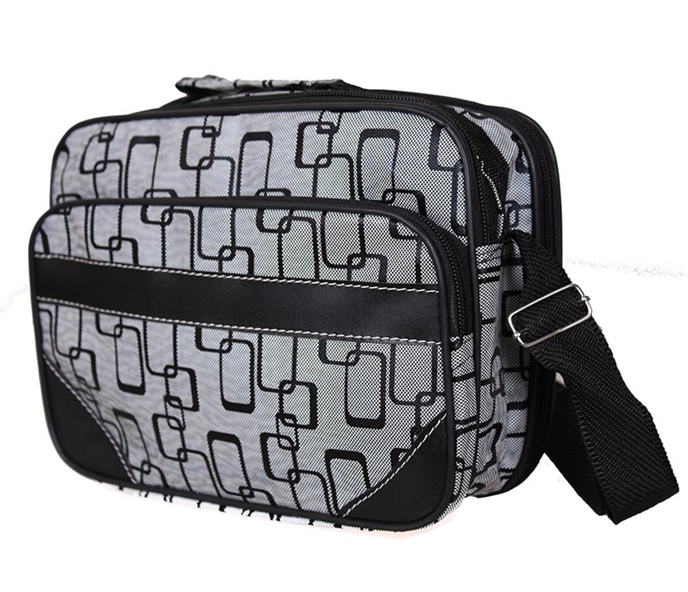 Мужская сумка из кожзаменителя 301566 серый