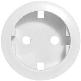 Лицевая панель - Программа Celiane - розетка 2К+З немецкого стандарта Кат. № 0 671 53/61 - белый