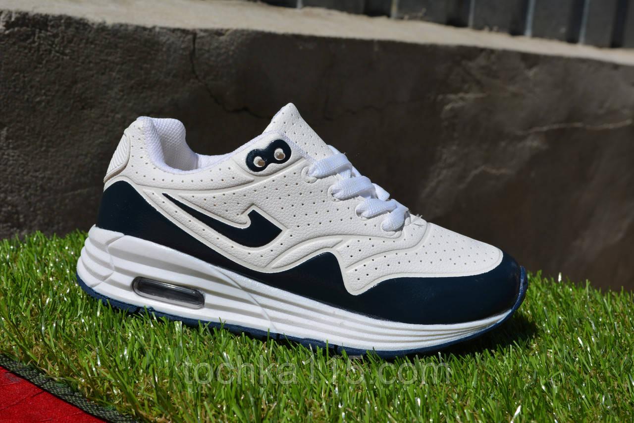 Детские кроссовки Nike air max white найк аир макс белые черные, копия 31 - 36