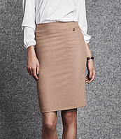 Женская юбка-карандаш бежевого цвета. Модель 260090 Enny