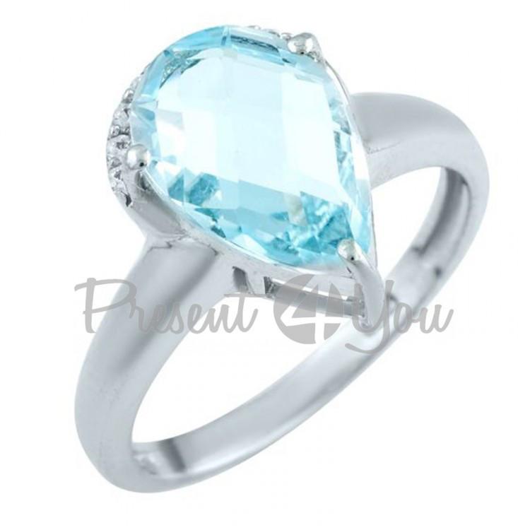 Серебряное кольцо с топазом - 2,39 г